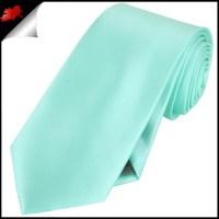 Mens Light Mint Green Tiffany Plain Necktie- Canadian Ties