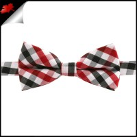 Boys Red, Black & White Check Bow Tie- Canadian Ties