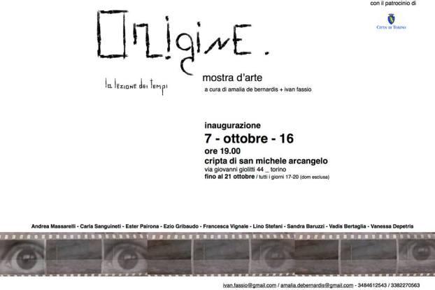 Origine, a cura di Amalia de Bernardis + Ivan Fassio