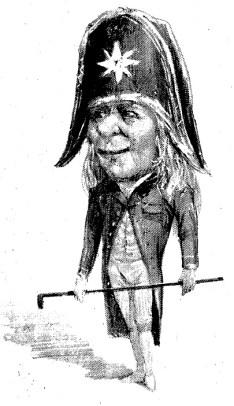 Mascarón, ilustración publicada en el Salón de Añaza 31 de mayo de 1892.