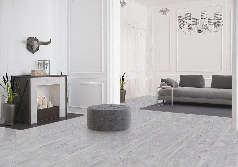 Barn Wood Cork Floor Scratch Resistant Grey Modern Living