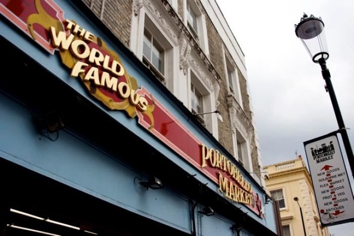 Portobello Market world famous sign
