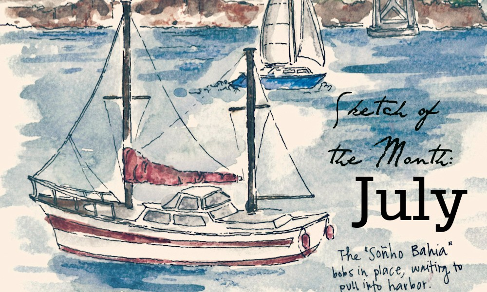 Travel sketch of the month: July edition.