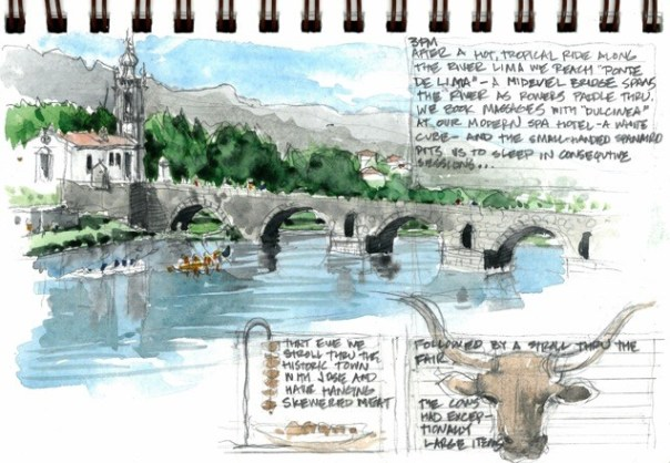 Travel sketches of Portugal