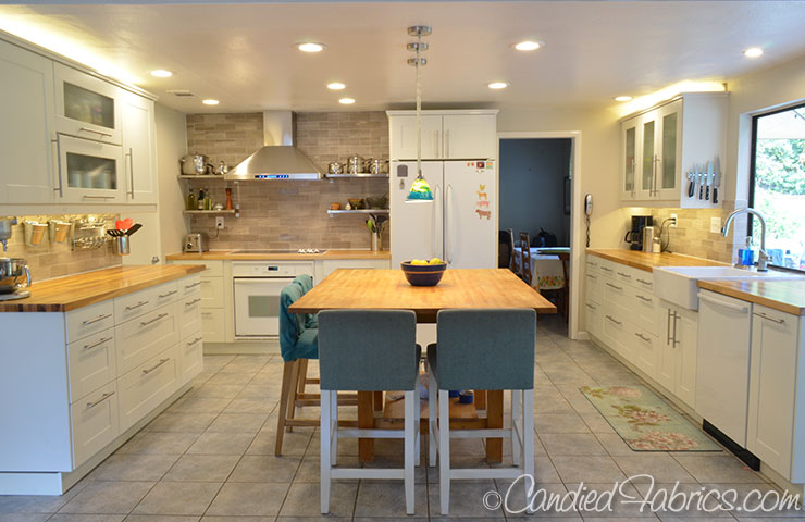 our kitchen reno allllllmost done candied fabrics