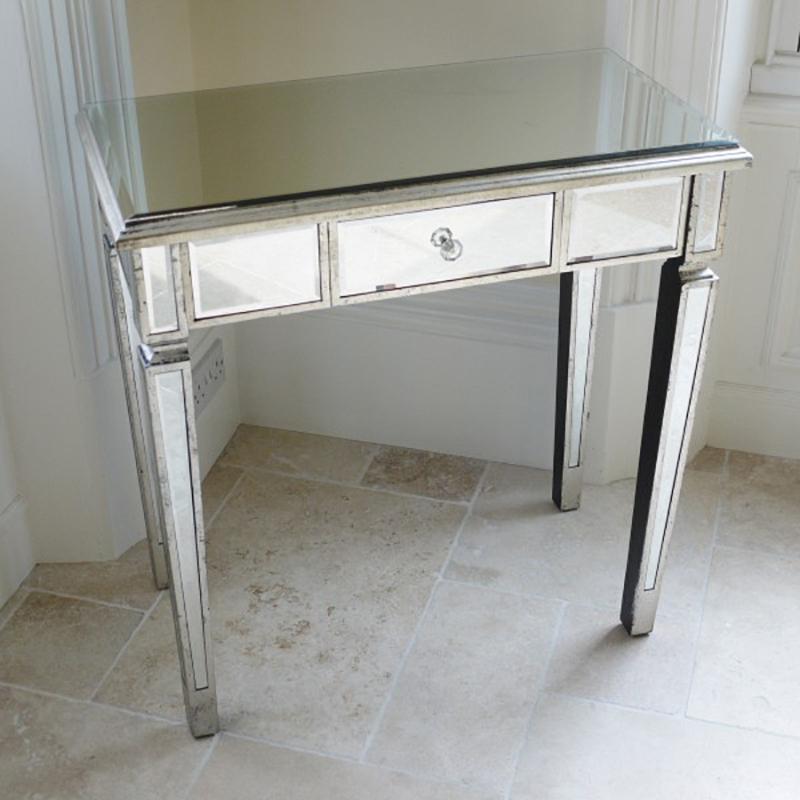 small mirrored desk