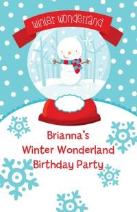Snow Globe Winter Wonderland Birthday Party wall art ...
