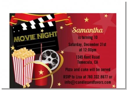 Movie Night - Birthday Party Petite Invitations