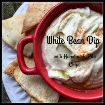 White Bean Dip and Homemade Pita Chips