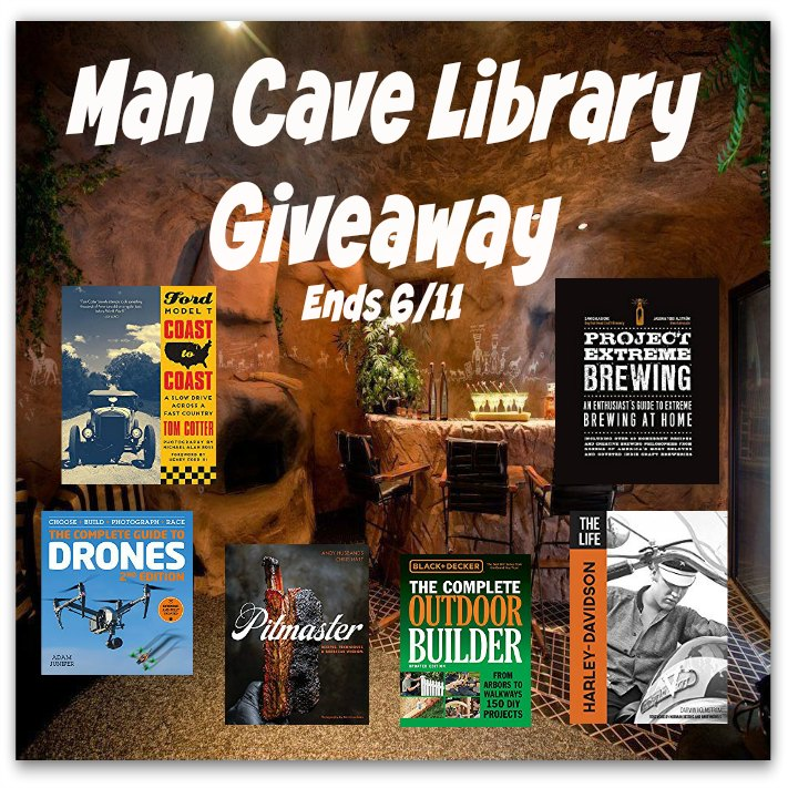 Man Cave Library #Giveaway Ends 6/11