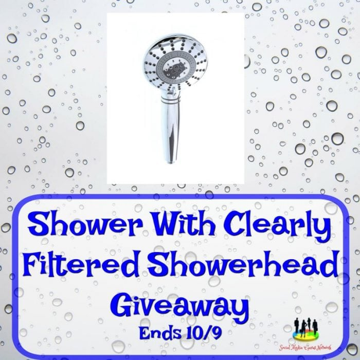 Shower with Clearly Filtered Showerhead #Giveaway Ends 10/9