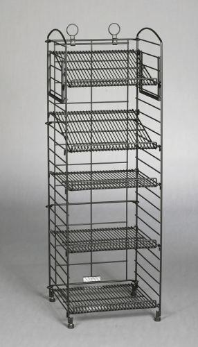 Folding Wire Rack Rack 5 Adjustable Shelves Bronze