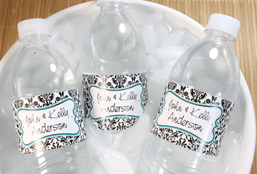 Water bottle labels for Weddings and Receptions