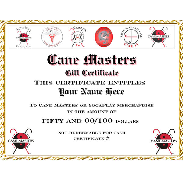 CAne Masters Gift Certificates
