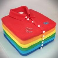 T-shirt cake Rainbow Cake