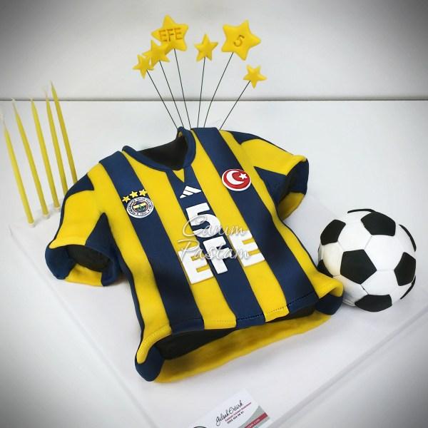 Football Cake FB Pastası Fenerbahçe Forma Pasta