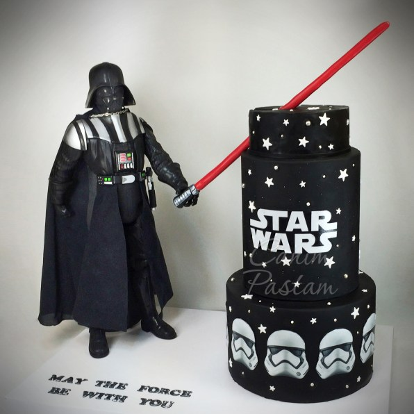 Star Wars Cake Darth Vader Cake Stormtropper Cake