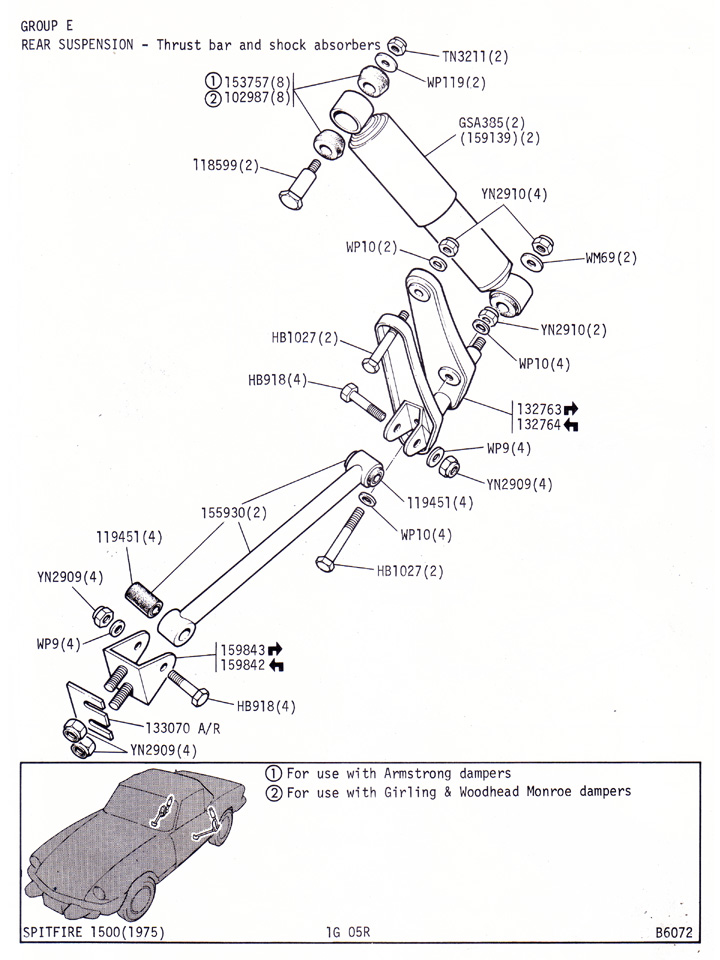 Rear Suspension - Thrust Bar and Shock Absorbers @ Canley Classics