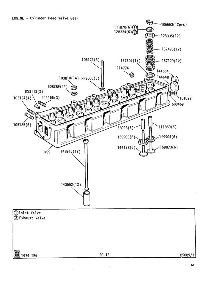 1986 ford 5 0 engine head diagram