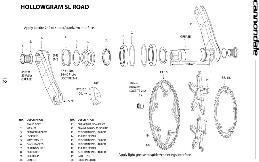 crank bearings diagram
