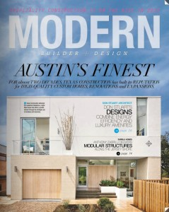 Cannon Frank featured in the Winter 2015 issue of Modern Builder.