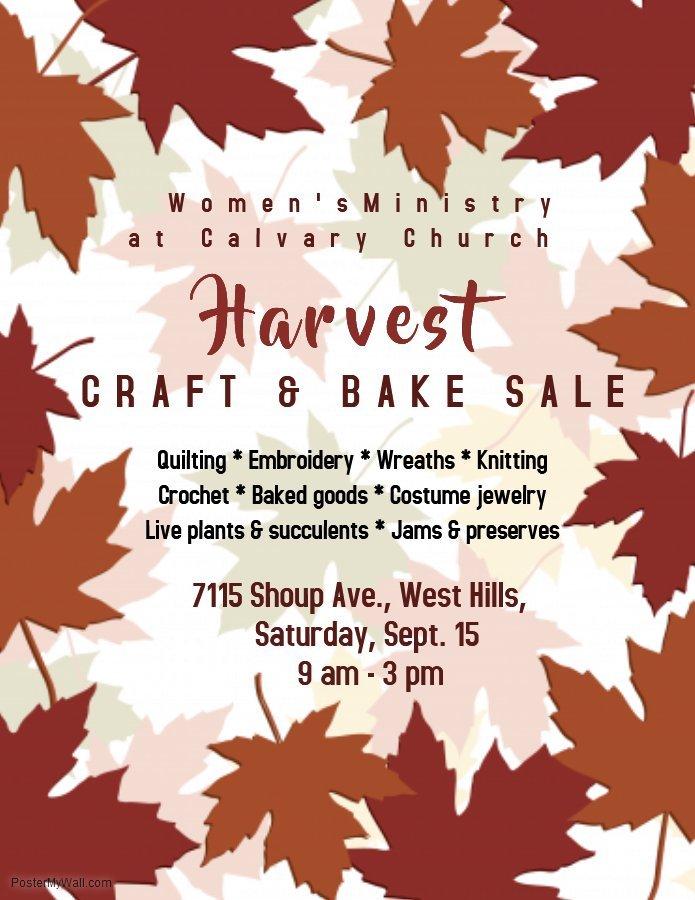 Harvest Craft  Bake Sale - Canoga Park Neighborhood Council
