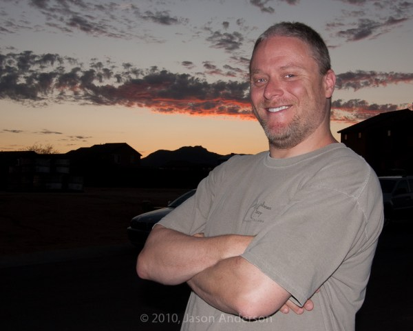 Portrait - Sunset and Flash Mix