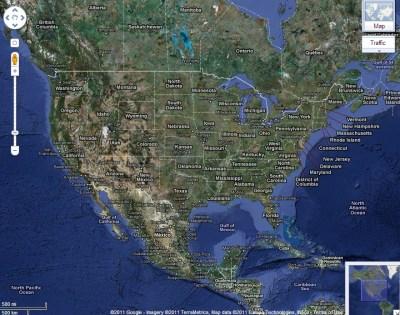 Google Map of USA