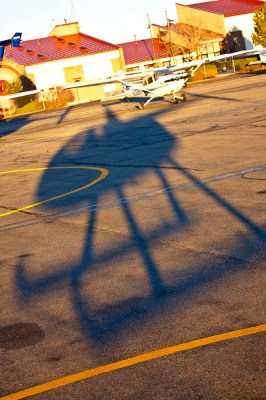 Shadowed Helicopter