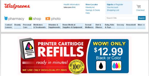 Walgreens Refills Inks!