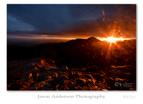 Wordless Wednesday #021: Mountain Sunset