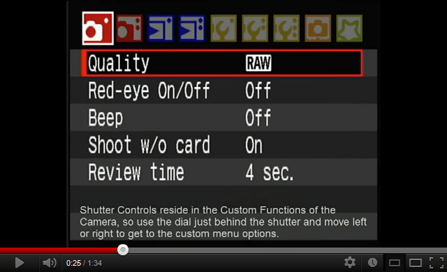 Shutter Programming on the Canon DSLR Line