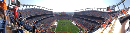 Bronco Stadium Panorama