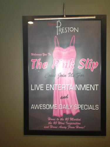 The Pink Slip
