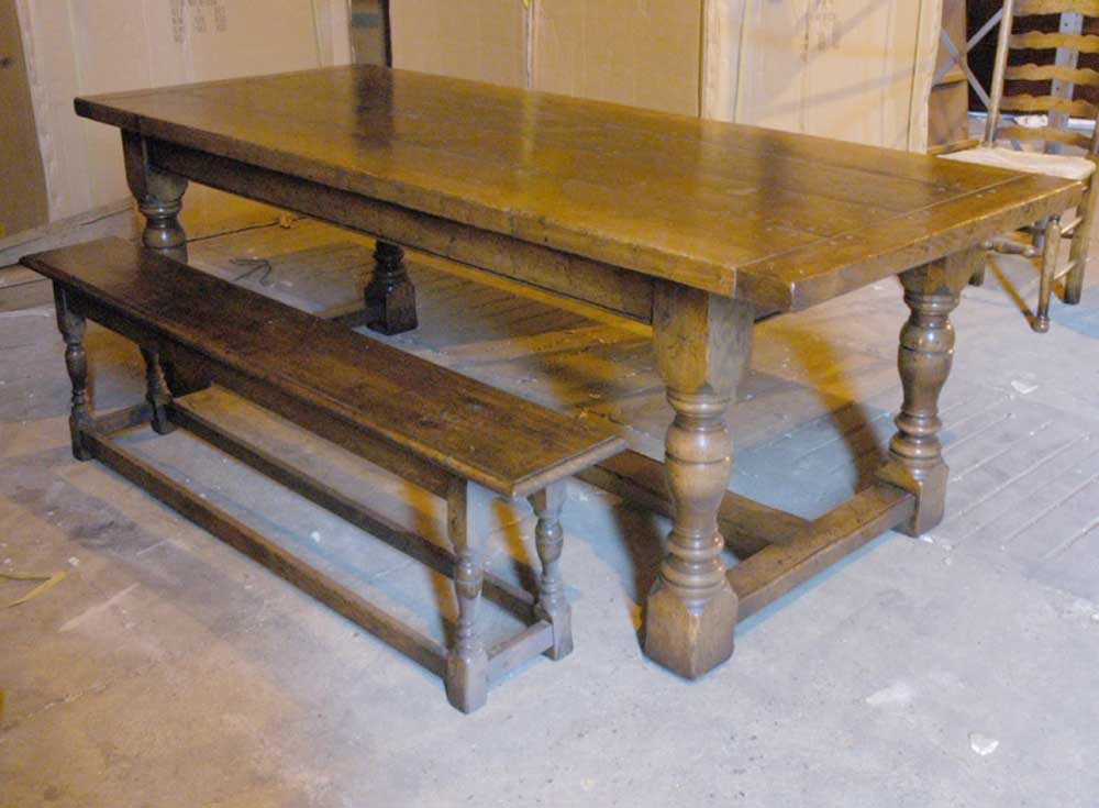 ... Rustic Refectory Table Bench Dining Set. SaveEnlarge & Rustic Dining Table And Bench Set - Castrophotos