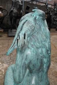 Large Bronze Mermaid Sculpture Fountain Garden Art