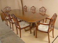 Regency Dining Set Pedestal Table Adams Chairs