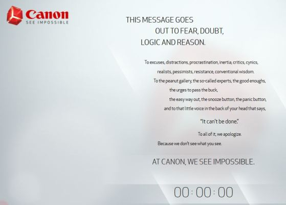 Canon Sees Impossible