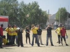 Sanlam brokers team building - Pigeon clay shooting