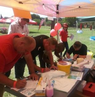 1st men signing up for PSA tests