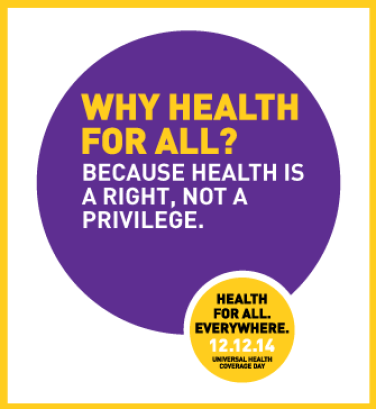 Health is a right not a privilege