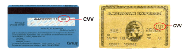 credit card cvs code