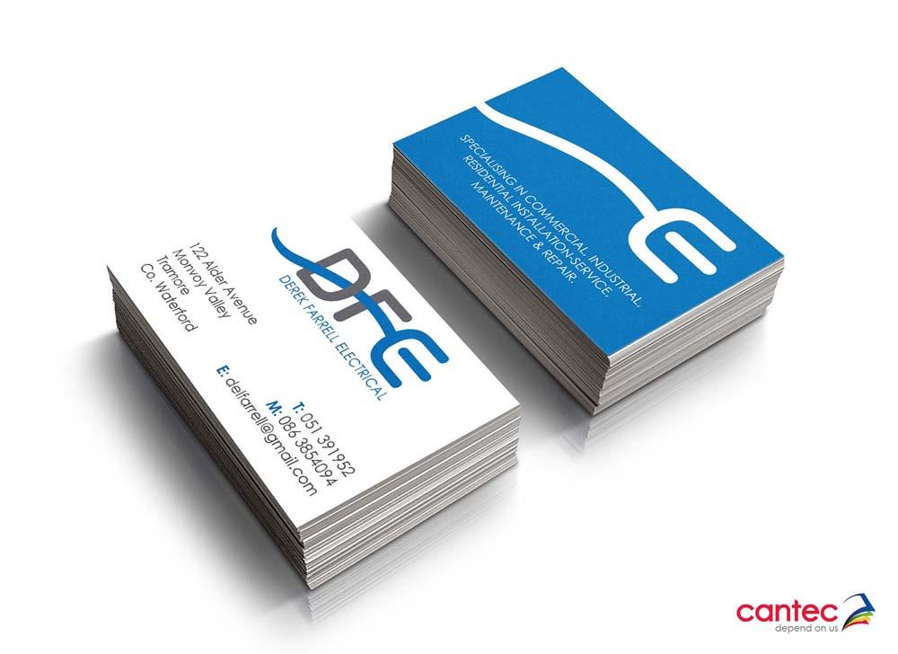 Derek Farrell Electrical Business Cards Cantec