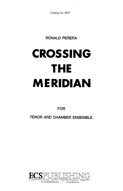 Crossing the Meridian