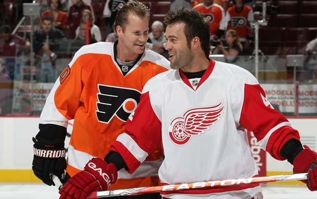 Chris Pronger and Todd Bertuzzi