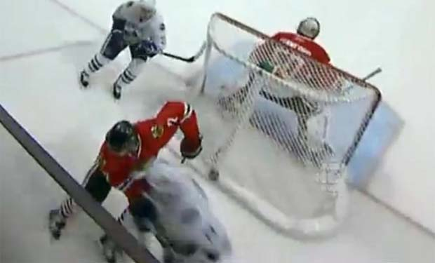 Raffi Torres hit on Brent Seabrook
