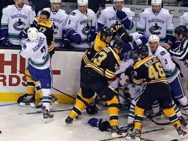 Vancouver Canucks and Boston Bruins