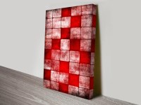 Red Cubes Abstract Canvas Wall Art | Canvas Prints Australia