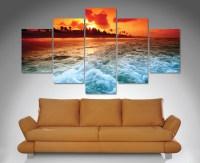 sunset-churn-5-panel-canvas-wall-art-print - Canvas Prints ...