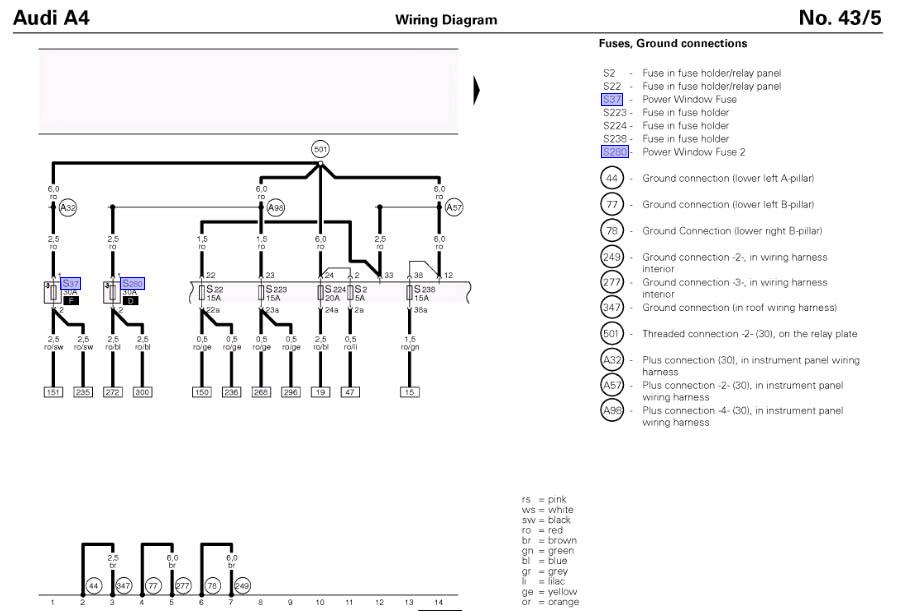 Audi A3 Rear Lights Wiring Diagram - TSB Wiring Diagrams